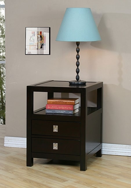 Norwich two drawer side table overstock shopping great for Coffee tables norwich