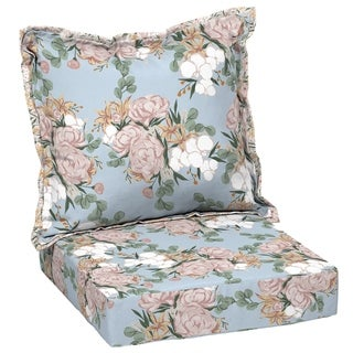 Arden + Artisans Giana Floral Deep Seat Set - 47 in L x 23 in W x 8 in H