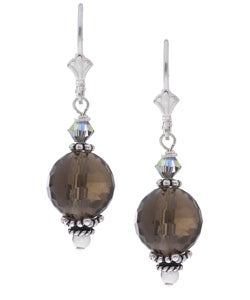 Charming Life Sterling Silver Brown Smokey Quartz Earrings