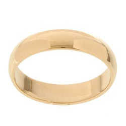 14k Yellow Gold Women's Half-round 4-mm Wedding Band