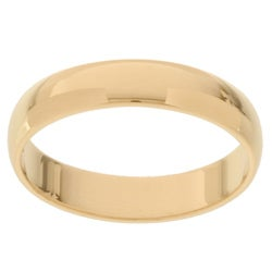 10k Yellow Gold Women's Half-round 4-mm Wedding Band