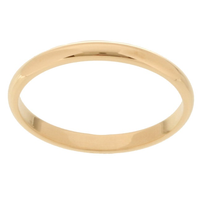 14k Yellow Gold 2 mm Wedding Band