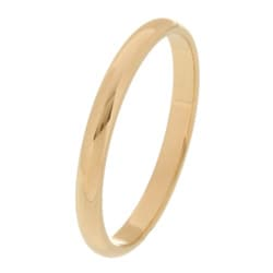 14k Yellow Gold Women's Half-round 2-mm Wedding Band
