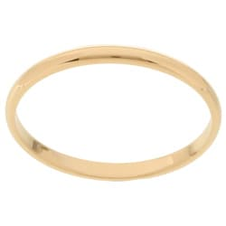 14k Gold Men's Half-round 2-mm Wedding Band