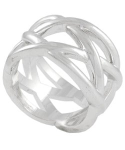 Tressa Sterling Silver Criss-cross Ring