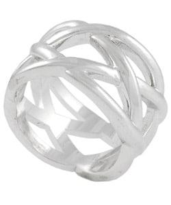 Tressa Sterling Silver Criss-cross Ring
