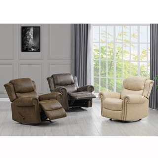 Copper Grove Dilsen Extra Large Rolled Arm Wall Hugger Recliner Chair