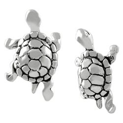 Journee Collection Sterling Silver Turtle Stud Earrings