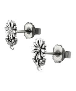 Tressa Sterling Silver Daisy Stud Earrings