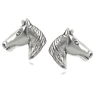 Tressa Sterling Silver Horse Head Stud Earrings