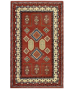 Elite Traditional Handmade Wool Rug (5' x 8')