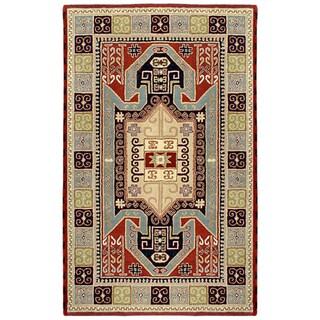 Elite Traditional Handmade Wool Rug (5' x 8')