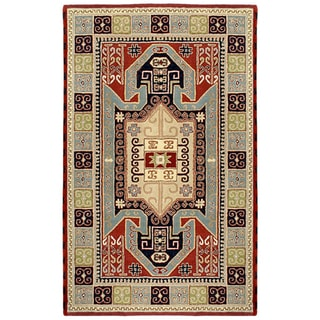 Handmade Elite Traditional Geometric Wool Rug (8' x 11')