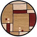 Handmade Elite Contemporary Wool Rug (6' Round)