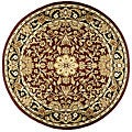 Handmade Elite Traditional Wool Rug (6' Round)