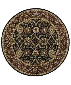 Handmade Elite Traditional Wool Area Rug (6' Round)