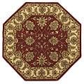 Handmade Elite Traditional Wool Rug (6' Octagon) - 6' x 6'