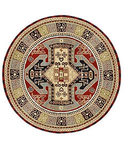 Handmade Elite Traditional Persian Wool Rug (8' Round)
