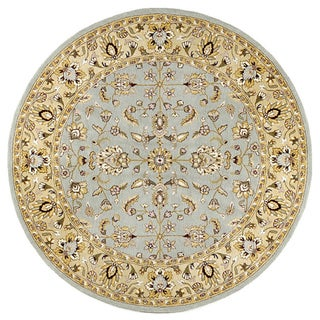 Elite Traditional Handmade Wool Rug (8' Round)