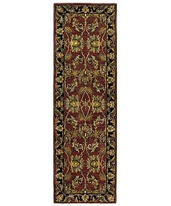 Handmade Elite Traditional Wool Floral Runner Rug (2'6