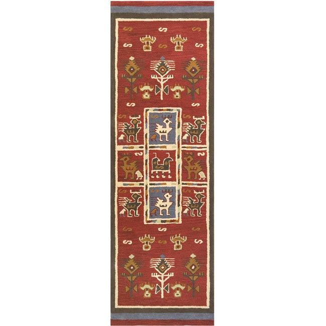 Elite Tribal Handmade Wool Rug Runner (2'6 x 8')