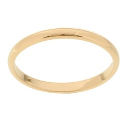 10k Yellow Gold Women's Half-round 2-mm Wedding Band