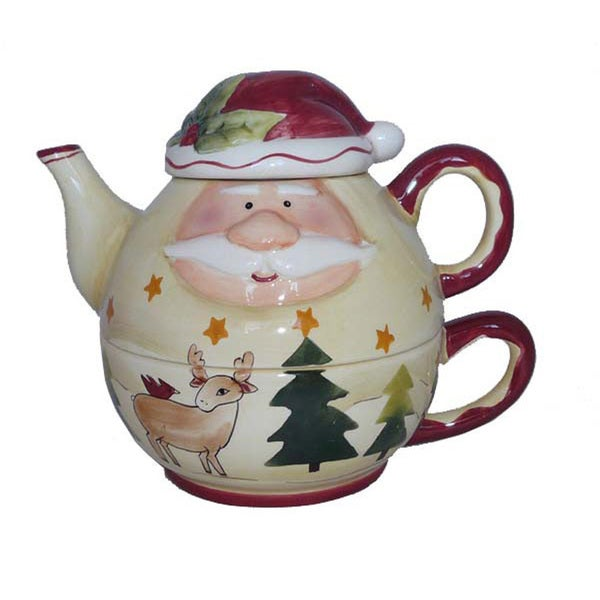 Santa Claus Hand-painted Tea-for-One Set