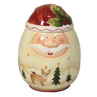 Santa Claus Large Hand-painted Cookie Jar