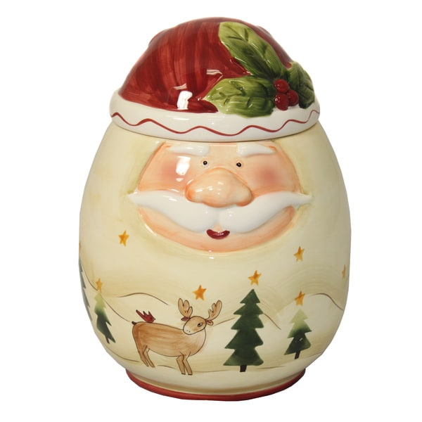 Santa Claus Large Hand-painted Cookie Jar