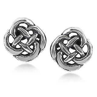 Tressa Sterling Silver Celtic Knot Stud Earrings
