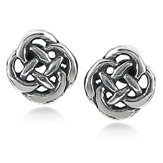 Tressa Sterling Silver Celtic Knot Stud Earrings