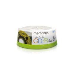Memorex CD Recordable Media - CD-R - 52x - 700 MB - 20 Pack Spindle
