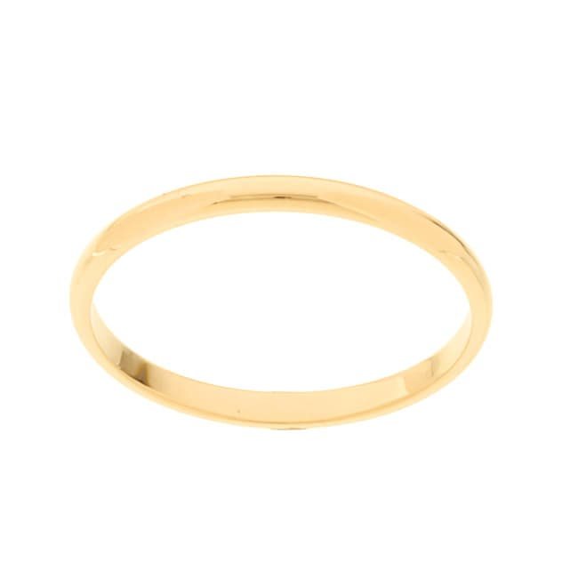 10k Yellow Gold Men's Half-round 2-mm Wedding Band