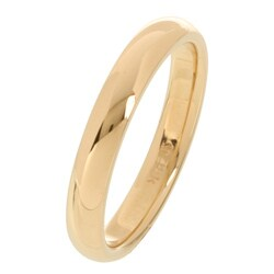 14k Yellow Gold Women's 3-mm Comfort Fit Wedding Band