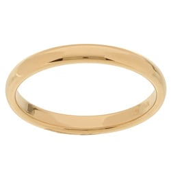 14k Yellow Gold Men's 3-mm Comfort Fit Wedding Band