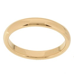 10k Yellow Gold Women's Comfort Fit 3-mm Wedding Band