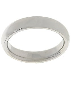 Polished Platinum Comfort-Fit Wedding Band