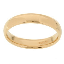 10k Yellow Gold Men's Comfort Fit 4-mm Wedding Band