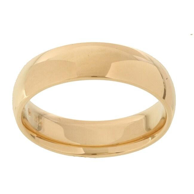 10k Yellow Gold Women's Comfort Fit 5-mm Wedding Band