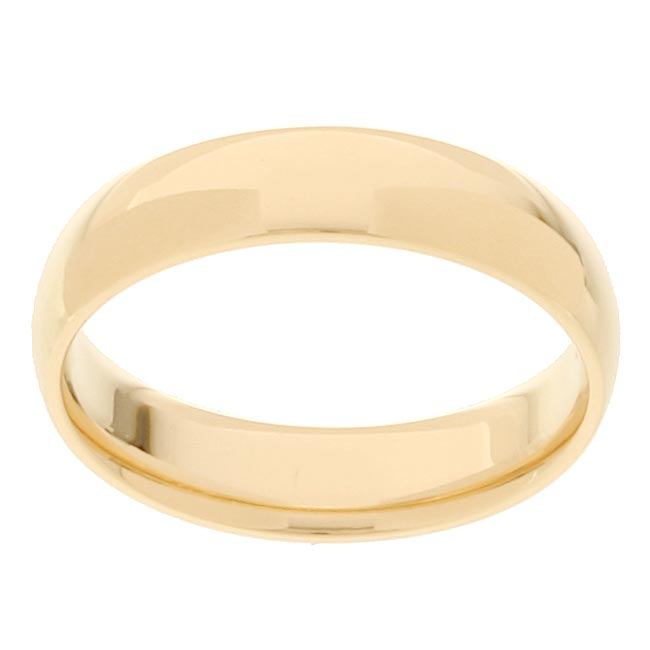 10k Yellow Gold Men's Comfort Fit 5-mm Wedding Band