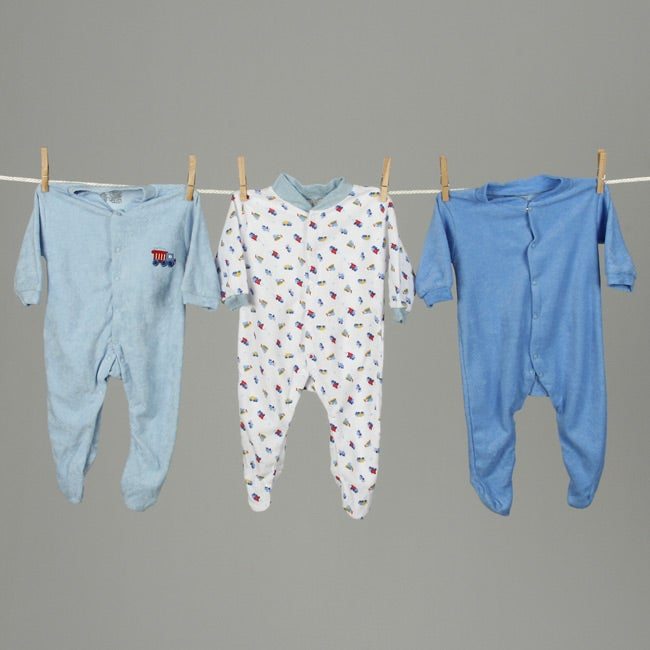 Blue and Yellow Sleep N Play Jammies (Pack of 6)