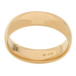 14k Yellow Gold Men's 6-mm Comfort Fit Wedding Band
