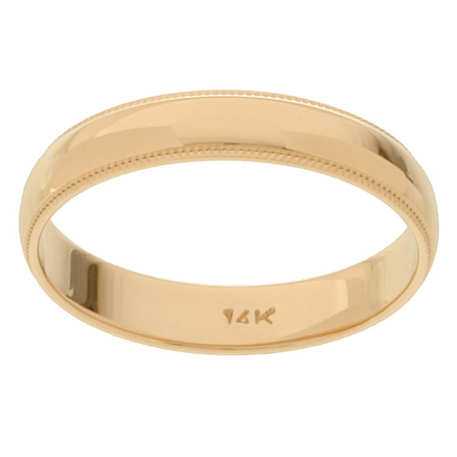 NEW 580 MENS WEDDING BAND YELLOW GOLD