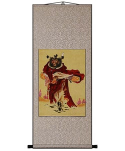Chinese Warrior Art Wall Scroll Painting