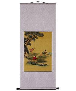 Precious Children Chinese Art Wall Scroll Painting