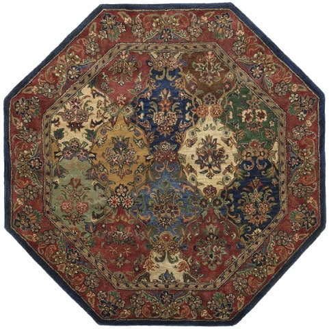 Hand Tufted Wool Area Rug 8 Octagon 10864998