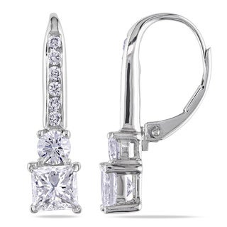 Miadora 18k White Gold 2ct TDW Diamond Leverback Earrings (G-H-I, I1)