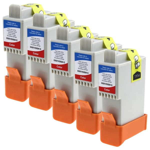 INSTEN Canon BCI-24 Compatible Color Ink Set 5-pack