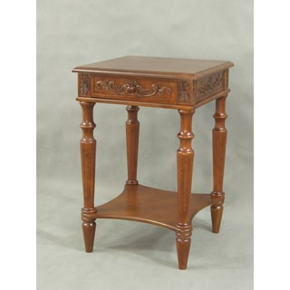 International Caravan Wooden Square Table with Drawer