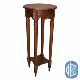International Caravan Round Tall Plant Table